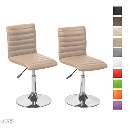 Esszimmerstühle 2er Set # Stuhl # Kunstleder CAPPUCCINO # Küchenstuhl Drehstuhl TYP 9-574V höhenverstellbar, Besucherstuhl, Designstuhl