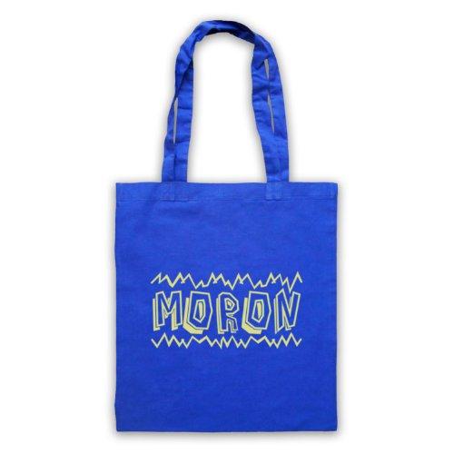 "Borsa shopper, motivo: scritta ""Moron"" Blu"