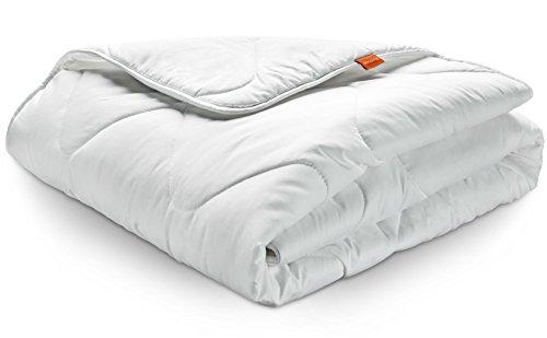 Winter Decke sleepling 190051 Basic 240 Mikrofaser Baumwolle Mischgewebe duo warm – weiß - 2