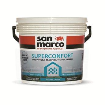 San Marco Superconfort Wandfarbe innen Anti-Kondensation wärmeisolierend atmungsaktiv Anti-Schimmel, weiß