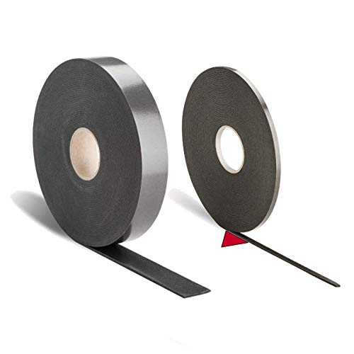 1 Pack mit 5 Rollen à 10 Meter Polyethylen-Dichtband / 10 x 3 mm -