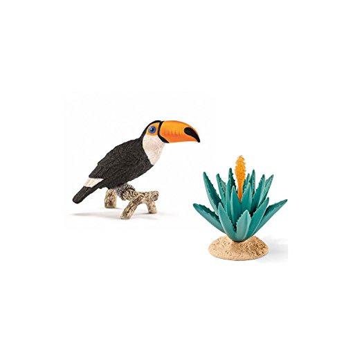 Schleich Spiel-Figuren-Set Wild Life Tukan 14777 mit Agave 42243