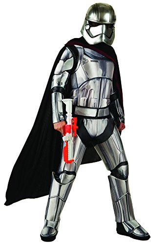 Star Kostüm Commander Wars - Rubie's 3810670 - Stormtrooper Commander Adult, XL, silber/schwarz