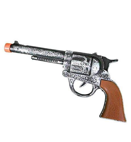 Western Revolver, ca. 22 cm, Cowboy, Western, Karneval, Spielzeugpistole, Spielzeug, Kinderspielzeug, Karnevalsaccessoire, Kostümzubehör, Rollenspiele, Kinderrollenspiele (Tanz Kostüme Western)