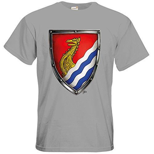 getshirts - Das Schwarze Auge - T-Shirt - Die Siebenwindküste - Wappen - Kyndoch pacific grey