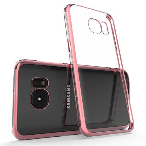 URCOVER Chromage Coloré Case - Coque de protection pour Apple iPhone 7 Plus   Housse Transparente en Silicone TPU Souple et Flexible en Gris Rose or
