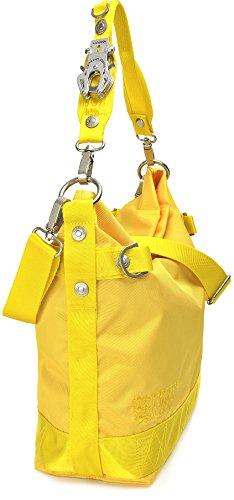 GEORGE GINA & LUCY, Damen Handtaschen, Hobo-Bag, Schultertaschen, Beuteltaschen, Henkeltaschen, 40 x 32 x 13 cm (B x H x T), Farbe:Multi Gelb