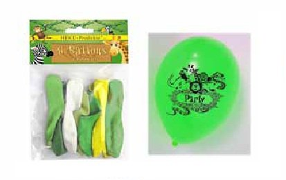 Heku - Dschungel Luftballons 8 Stück (Gefüllte Dschungel Tiere)