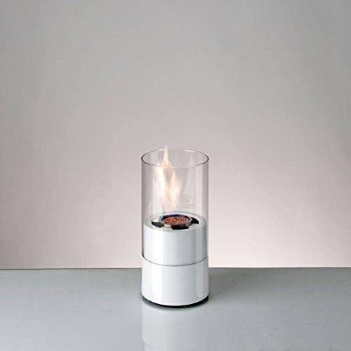 sompex Edle Luxus Feuerstelle Ethanol Dekokamin Feuer ca. 28,5 cm weiß