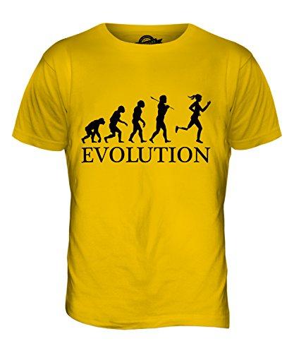 CandyMix Paralympischen Läufer Evolution Des Menschen Herren T Shirt Dunkelgelb