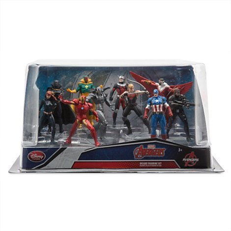 SET 10 PERSONAGGI PVC AVENGERS OCCHIO DI FALCO VISION WAR MACHINE DECORAZIONE TORTE