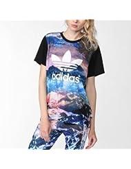 Adidas Shirt Mountain Clash schwarz mehrfarbig 46