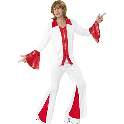 Kostüme Trooper Super (Abba Kostüm Herren 70er Jahre Outfit M 48/50 Tanzkostüm Abbakostüm Super Trooper)