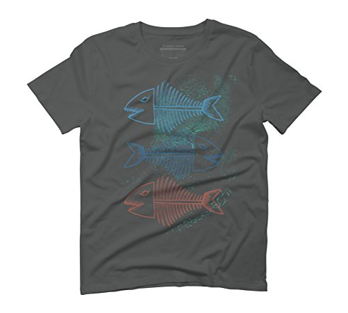 Fish Bones Men's Graphic T-Shirt - Design By Humans Anthracite
