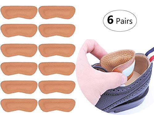 6 paia tallone Pad Heel shoe impugnature antiscivolo autoadesivo solette Foot Care Protector tacco protezione dalle vesciche (Marrone)