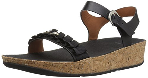 Fitflop Ruffle Back-Strap Sandals, Sandali Donna, Nero (Black 1), 38 EU