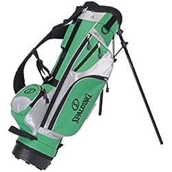 Spalding Stand - Bolsa de palos de golf con trípode para niños, color verde