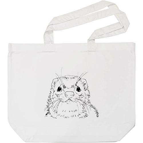 Azeeda 'Frettchengesicht' Weiße Einkaufstasche (BG00010707)