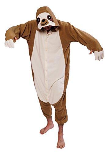Faultier Kostüm / Kigurumi Onesie Jumpsuit (Pferd Beine Kostüm)