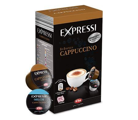 K-Fee Lounge Expressi Cappuccino Kaffeekapseln,48+48 Kapseln, kompatibel mit Teekanne Lounge Kaffee- und Teemaschine