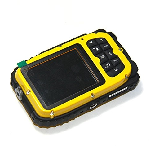 MAXLY 2.7 Zoll LCD-Kameras 16MP Digitalkamera Unterwasser 10m Wasserdichte Kamera + 8x Zoom-Gelb