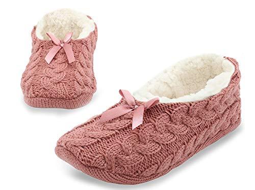ocken Für Damen | Wolle Socken Mit Abs Sohle | Stoppersocken Hausschuhe | Socken Mit Winter Motiv | Anti Rutsch Socken Damen | Pantoffeln Damen Größe 38-41 ()