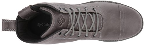 Columbia Mens Irvington 6 Leather Boot Waterproof Uniform Dress Shoe Titanium Mhw, Zuc