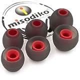 misodiko S350 Cuscinetti in Silicone per Cuffie Auricolari - SONY WF/WI SP700N 1000X, MDR XB 50BS 50AP 510AS, EX 10LP 15AP 15LP 38iP 100IP 100AP/ Sennheiser Momentum In Ear (3 Coppie, S)
