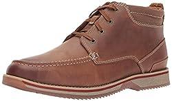 Clarks Katchur Top Chukka Boot Dark Tan Leather 8.5 D(M) US