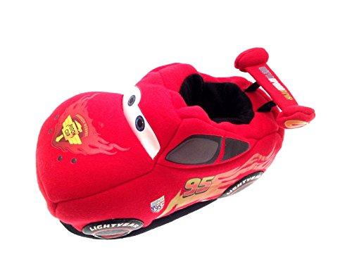 Disney Disney Jungen Cars Red Hausschuhe Jungen Hausschuhe 3D Slipper Red fddqP