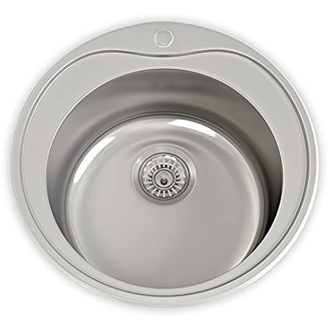 Cambridge 1 Bowl 180mm Deep Polished Stainless Steel Sink & Waste Kit
