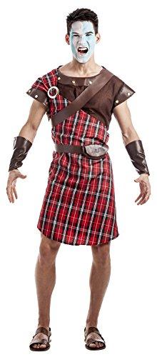 Imagen de disfraz guerrero escoces talla s
