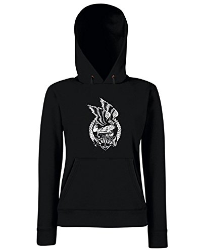 T-Shirtshock - Sweats a capuche Femme TM0675 united states navy eagle clutching anchor Noir