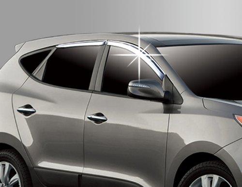 Chrom Windabweiser Regenabweiser Tuning Safe Window Visor Chrome (Hyundai Window Visor)