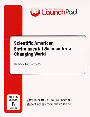LaunchPad for Houtman's Scientific American Environmental Science (6 month access)