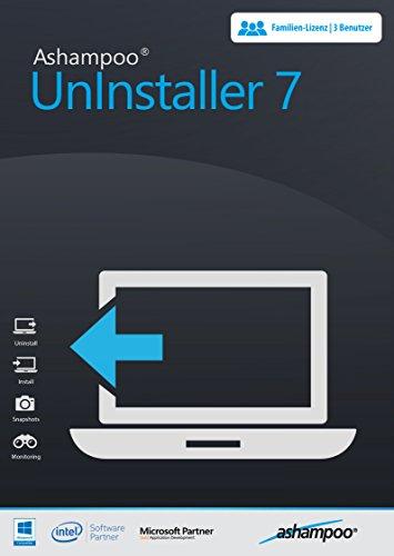 Ashampoo UnInstaller 7 - Optimieren, Restloses Entfernen von Programmen Windows 10 / 8.1 / 8 / 7 / Vista