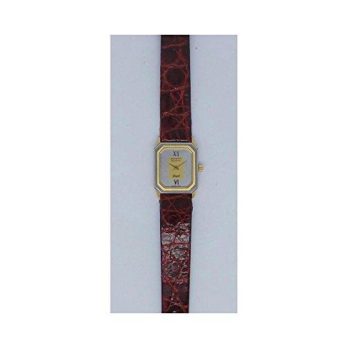 Uhr Zenith Silhouette 19007405Quarz (Batterie) Stahl Quandrante Silber Armband Leder