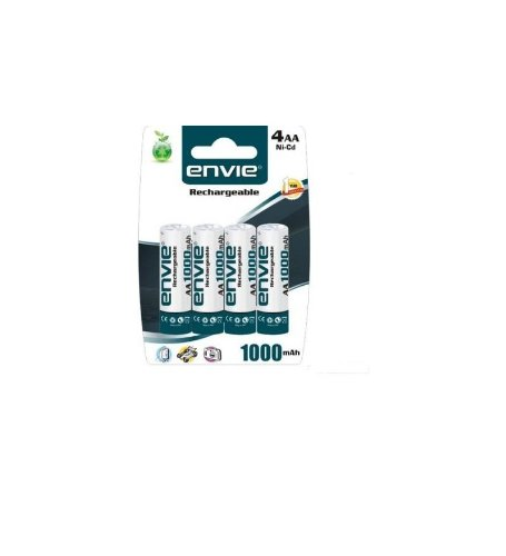 Envie AA 1000 4PL Ni-CD Rechargeable Battery (White)