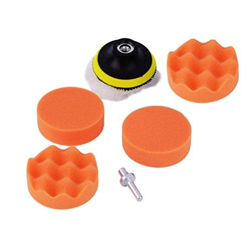 WINOMO Car Polieren Pad Kit für Auto Schleifen Polieren Puffer mit Bohrer Adapter