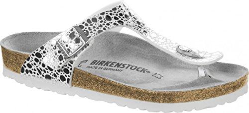 g Sandale metallic stones silver Gr. 35 - 43 - 1008864, Größe + Weite:38 schmal (Birkenstock Sandalen Frauen Größe 35)