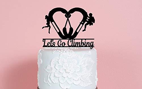 Lets Go - Mosquetón para decoración de tartas de boda con escaladores macho y hembra