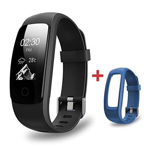 Fitness Trackers AMERTEER Activity Tracker Heart Rate Monitor Smart Bracelet Bluetooth 4.0 Waterproof Smart watch Band Pedometer Wristband Sleep Monitor Step Tracker Smart Barcelet for iOS and Android