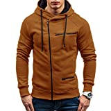 Dragon868 Strickjacke Herren mit Reissverschluss Sweater Zip Hood Cardigan Männer