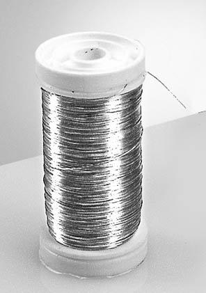 Silberdraht mit Kupferkern 0,25mm/50g, auf der Rolle 105m