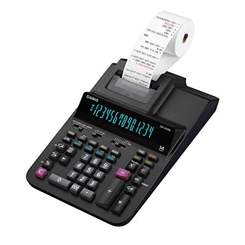 Casio dr-320re calcolatrice scrivente professionale, nero