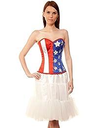 d122273cdf2 Bustier Basque Shaper Women Wadanhyll Couture Authentic Steel Boned  Overbust Corset Dress Plus Size Waist Trainer