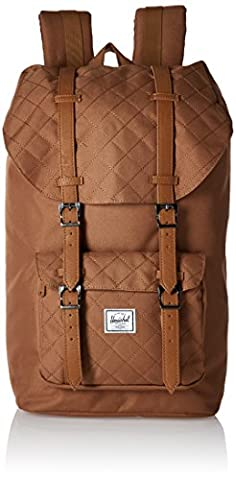 Herschel Supply Co. Rucksack Little America Quilt, Caramel Quilted/Caramel Synthetic Leather (braun) - 10014-01239-OS