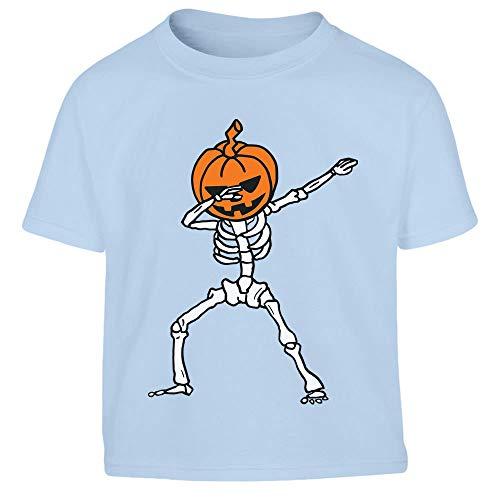 Shirtgeil Zucca di Halloween Jack OLantern Dab Dance Dabbing Maglietta per Bambini
