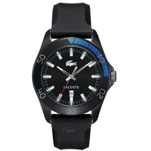 Lacoste Gents Black Rubber Strap Watch 2010552