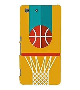 PrintVisa Basket Ball in Goal 3D Hard Polycarbonate Designer Back Case Cover for Sony Xperia M5 Dual :: Sony Xperia M5 E5633 E5643 E5663
